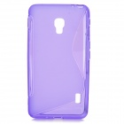 S-Pattern Protective TPU Back Case for LG Optimus D500 - Purple