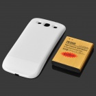 "Replacement 3.7V ""5100mAh"" Rechargeable Li-ion Battery + Back Case for Samsung S3 i9300 - White"