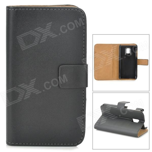 A-336 Protective PU Leather Case for LG P990 Optimus 2X - Black