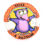 Cute Opossum Pattern Polypropylene Rope + Canvas Pet Frisbee Toy for Dog - Red + Purple