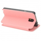 Oracle Style Protective PU Leather Case w/ Card Holder Slots for Samsung Galaxy Note 3 - Pink