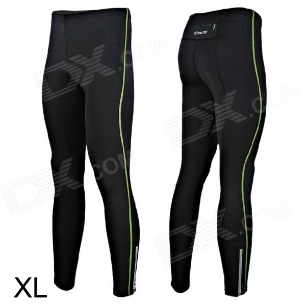 Outto 115# Men's Sports High Elastic Quick-drying Pants - Fluorescent Green + Black (Size XL) mens sports pants bloomers black size xl