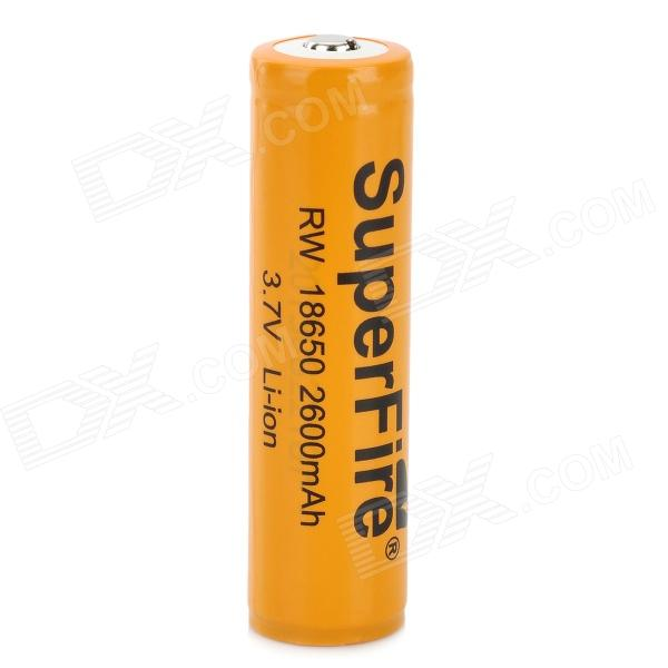 Super Fire Rechargeable 3.7V 2600mAh Lithium Ion 18650 Battery - Orange yes yes relayer cd dvd