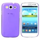 I9300 Protective Ultra Thin Matte Plastic Back Case for Samsung i9300 - Purple