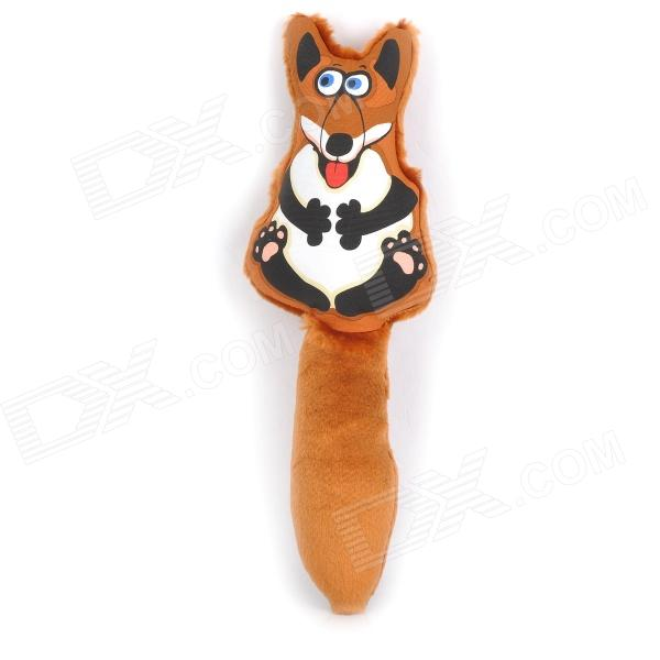 Cute Fox Style Pet Plush Toy w/ Sound Effect for Dog - Brown + White pencil soft safe non toxic standard pencils hb 2b 4b painting professional office school drawing sketching best quality