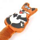 Cute Fox Style Pet Plush Toy w/ Sound Effect for Dog - Brown + White