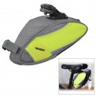 Oxford Fabric Bicycle Saddle Bag w/ Waterproof Cover - Grey + Green