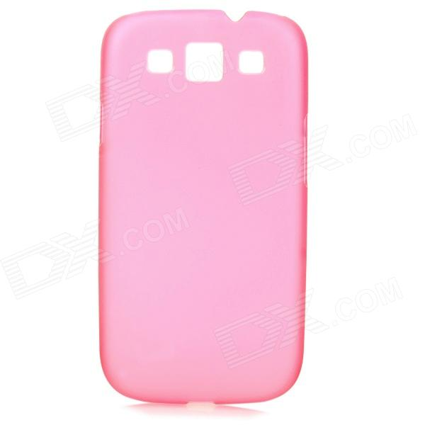Ultrathin Protective Frosted Plastic Back Case for Samsung i9300 - Deep Pink