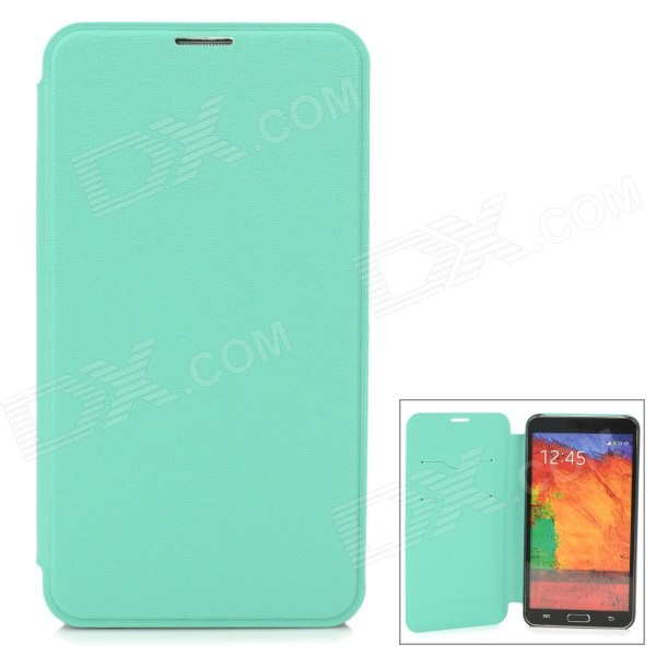 Oracle Style Protective PU Leather Case w/ Card Holder Slots for Samsung Galaxy Note 3 - Green