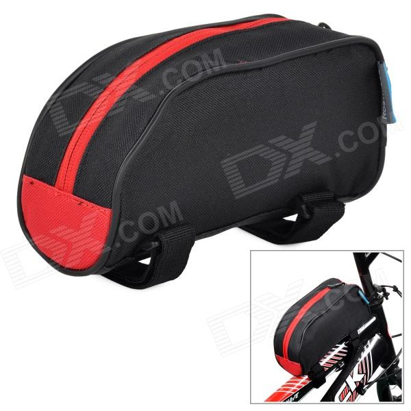 Roswheel 12654 Bicycle Front Tube Bag - Black + Red