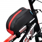 Roswheel 12654-C Bicycle Front Tube Bag - Black + Red