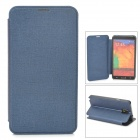 Oracle Style Protective PU Leather Case w/ Card Holder Slots for Samsung Galaxy Note 3 - Dark Blue