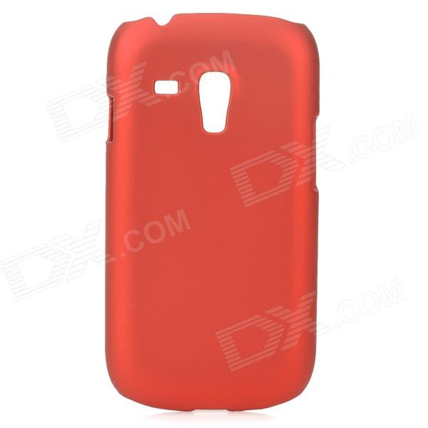 Protective PC Back Case w/ Screen Protector for Samsung Galaxy S3 Mini i8190 - Red