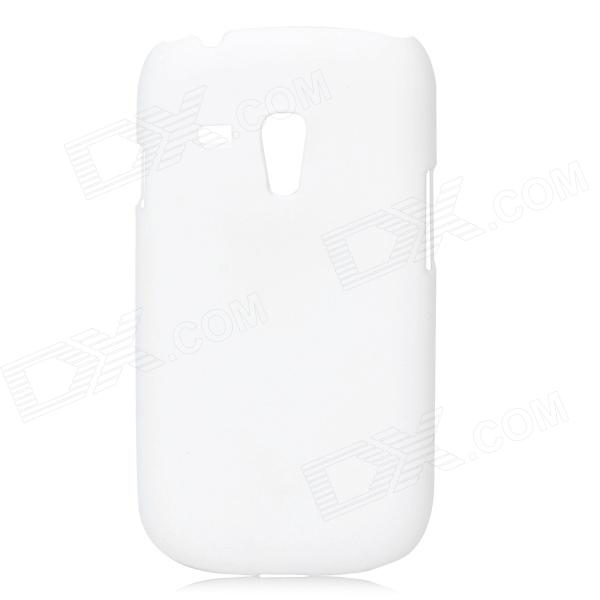 Protective PC Back Case w/ Screen Protector for Samsung Galaxy S3 Mini i8190 - White remax protective silicone back case w screen protector film for nokia lumia 820 translucent white