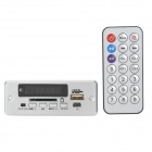 Navo 3.7~5V Bluetooth MP3 Decoder Board w/ FM / Stereo Amplifier - Silver