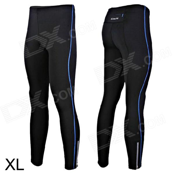 Outto 115# Men's Elastic Cooldry Skinny Pants for Sports / Exercise - Blue + Black (L) smeg scv 115