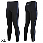 Outto 115# Men's Elastic Cooldry Skinny Pants for Sports / Exercise - Blue + Black (L)