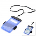 Protective Waterproof PVE Bag Case for Samsung Galaxy Note 2 / Note 3 / S3 / S4 - Deep Blue + Black