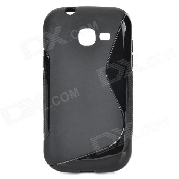 "Anti-Slip ""S"" Style Protective TPU Back Case for Samsung Galaxy Trend Lite S7390 / S7932 - Black"