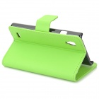A-336 Stylish Protective PU Leather Case for LG L9 - Green