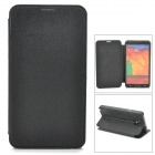 Oracle Style Protective PU Leather Case w/ Card Holder Slots for Samsung Galaxy Note 3 - Black