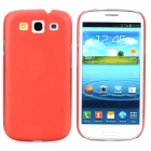 I9300 Protective Ultra Thin Matte Plastic Back Case for Samsung i9300 - Red