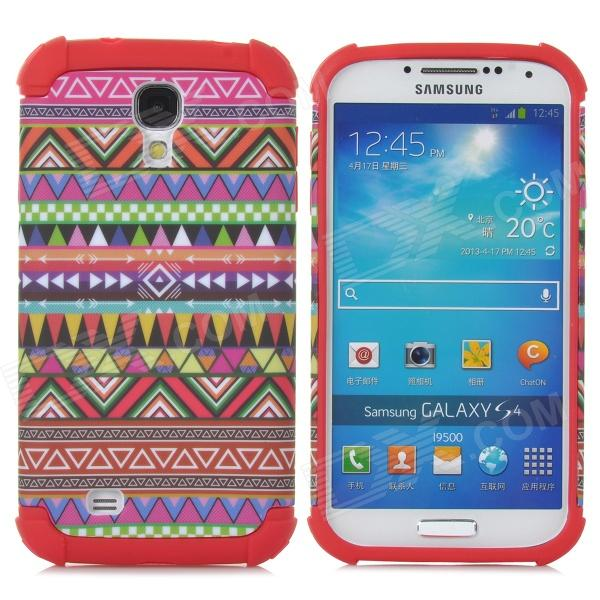 Geometric Pattern Plastic + TPU Back Case for Samsung Galaxy S4 / i9500 - Multicolored
