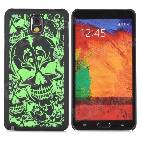 Protective Noctilucent Plastic Case for Samsung Galaxy Note 3 N9000 - Black + Green protective aluminum alloy pc back case for samsung galaxy note 3 n9000 more red black
