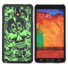 Protective Noctilucent Plastic Case for Samsung Galaxy Note 3 N9000 - Black + Green