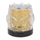 JHW-238 Lotus Seed Style Portable 3.0-Channel Speaker - Golden + Transparent