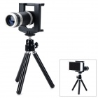 LGr-wy 01 8X Mobile Phone Telescope w/ Tripod for Samsung + iPhone 5s + HTC One X - Black + Silver