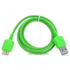 Micro USB 3.0 9pin Braid Nylon Data / Charging Cable for Samsung Note 3 - Grass Green (100cm)
