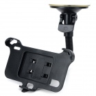 Flexible Tube Suction Cup Car Mount Holder w/ Car Charger for LG Nexus 4 - Black
