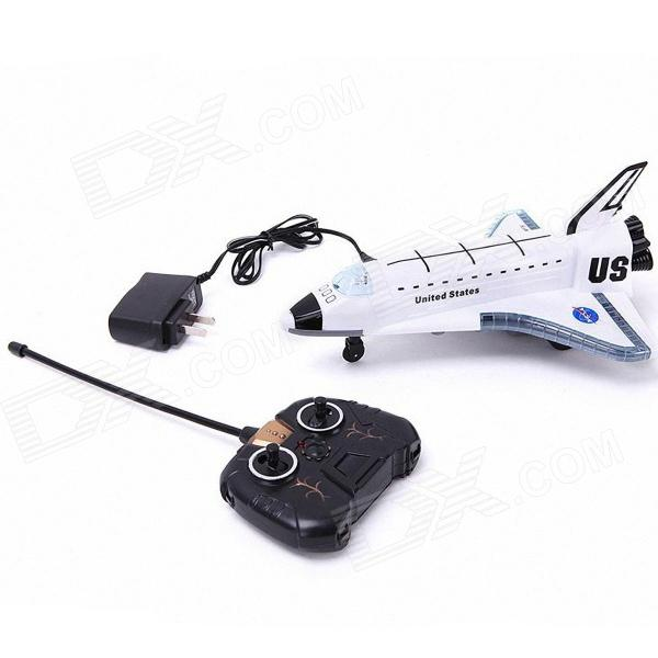 RD Rechargeable Remote Control Music 2-CH Spaceship - White + Black(SKU 283221)