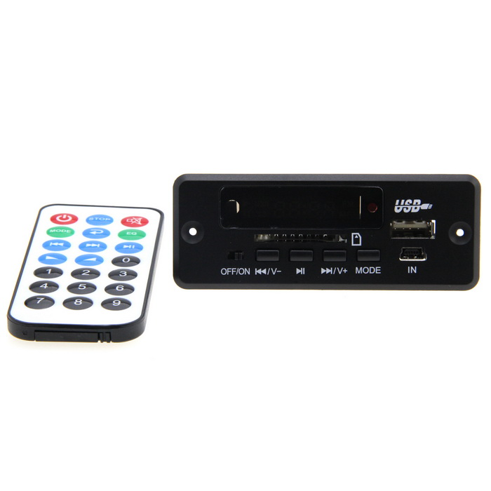 Navo 3.7~5V Bluetooth MP3 Decoder Board w/ FM / Stereo Amplifier - Black подвеска happy baby jolly garden