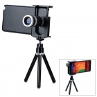8X Mobile Phone Telescope w/ Tripod for Samsung Galaxy Note 3 N9000 - Black + Silver