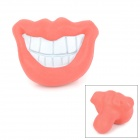 Smiling Mouth Style Rubber Pet Toy for Dog - Red