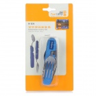 AceCamp 2574 Compact Detachable Cutlery Set Knife / Spoon / Fork / Bottle Opener Combo - Blue