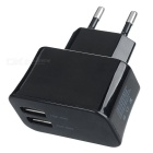 AC Charging Adapter Charger w/ Dual USB for Iphone / Ipad / Cell Phone - Black (2-Round-Pin Plug)