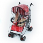 Universal Buggy Pushchair Stroller Rain Cover - Black + Transparent