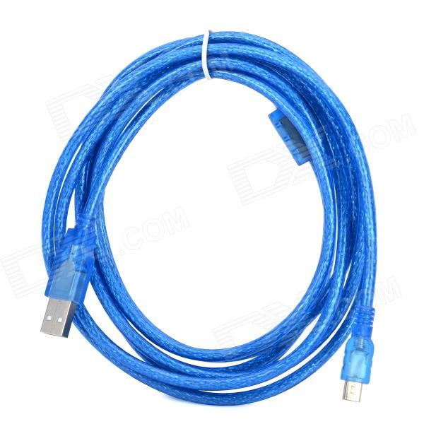 USB 2.0 to Mini 5pin Data Cable w/ Magnetic Ring - Blue (295cm)