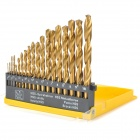 A19 19-in-1 Straight Handle Shank Twist Drill Bits Set - Golden