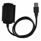USB 2.0 to IDE SATA 2.5 3.5 Hard Drive Converter Cable - Black