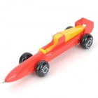 Rocket Car Shaped Blau-Gel-Tinte Kugelschreiber - Rot + Gelb