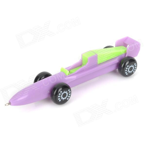 Rocket Car Shaped 0.5mm Blue Gel Ink Ballpoint Pen - Purple + Green