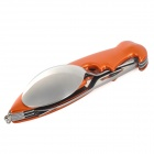 AceCamp 2573 Parrot Knife / Spoon / Fork / Bottle Opener Cutlery Tool - Orange