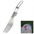 AceCamp 1578 Portable Outdoor Stainless Steel Foldable Fork - Silver