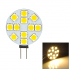 G4 GU4 GU5.3 MR11 3.5W 12-SMD 5060 LED 3200K 190lm Warm White Light Lamp for Car / Home (9~36V)