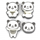 Cute Panda Style Food-grade Plastic Cookie / Biscuit Mould Set - Black + White