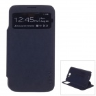 XSKN Protective PU Leather Case Cover Stand w/ Visual window for Samsung Galaxy Note 2 N7100 - Black